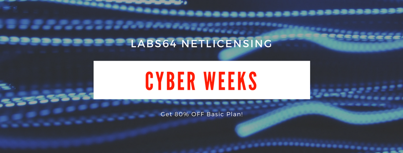 NetLicensing - Cyber Weeks Special - 80% OFF