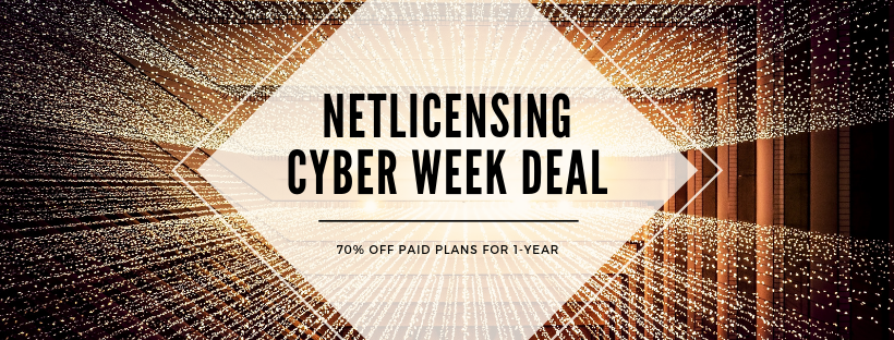 NetLicensing - Cyber Week Offer - 70% OFF