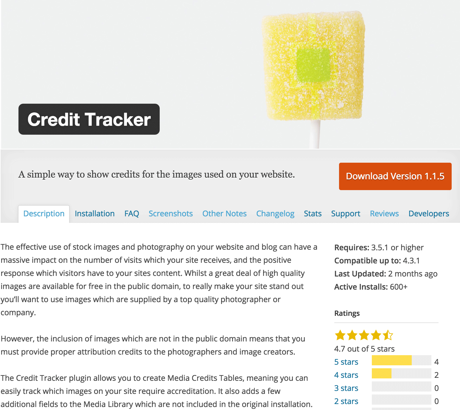 Wordpress Plugin: Credit Tracker